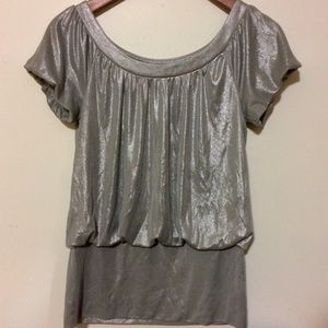 Silver INC International Concepts Blouse Size S